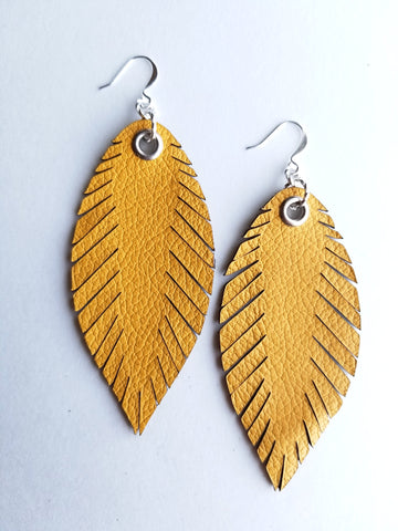 Signature Feathers - Mustard - K. Johnson Jewelry LLC