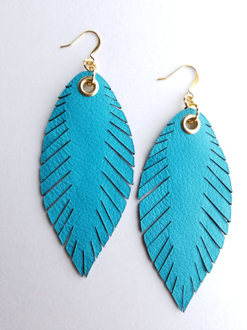 Signature Feathers - Turquoise - K. Johnson Jewelry LLC