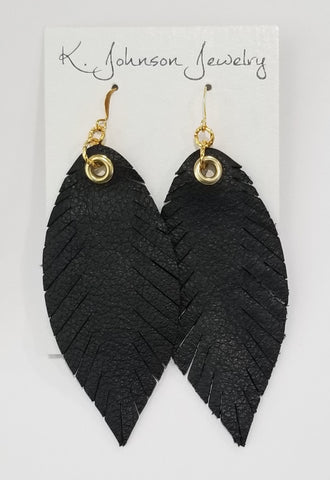 Signature Feathers - Black - K. Johnson Jewelry LLC