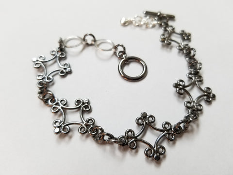 Percee Bracelet - Gunmetal/Silver - K. Johnson Jewelry LLC