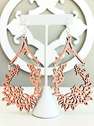 Fleur De Dentelle Chandeliers - Poppin' Peach - K. Johnson Jewelry LLC