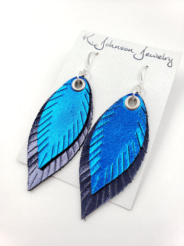 Americana - Layered Blue on Navy - Small - K. Johnson Jewelry LLC