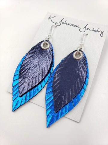 Americana - Layered Navy on Blue - Small - K. Johnson Jewelry LLC