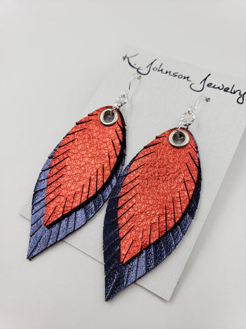 Americana - Layered Red on Navy - Small - K. Johnson Jewelry LLC
