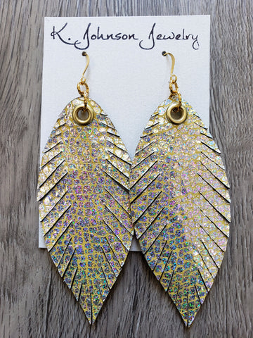 Designer Feathers - Hologram - K. Johnson Jewelry LLC