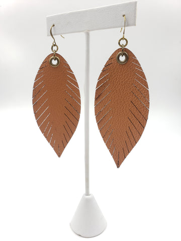 Signature Feathers - Cognac - K. Johnson Jewelry LLC
