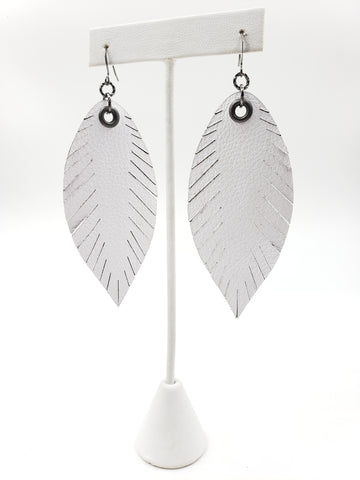 Signature Feathers - Bright White - K. Johnson Jewelry LLC