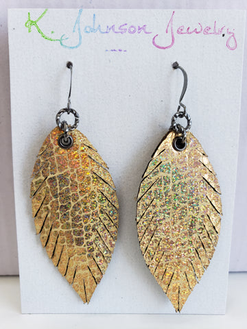 Mini Designer Feathers - Gold Hologram