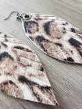 Designer Fur Feathers - Snow Leopard