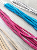 Leather Lace Tassel Necklace (5 colors) - K. Johnson Jewelry LLC