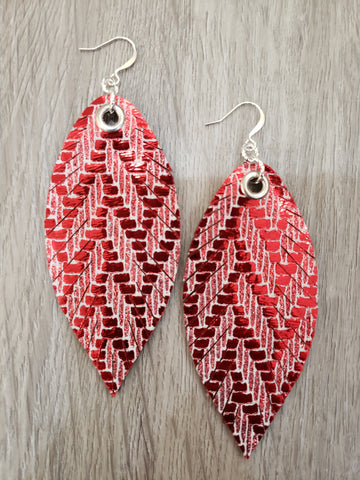 Designer Feathers - Cherry Chevron