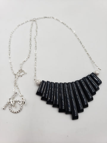 Onyx Fan Necklace