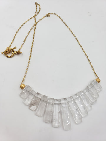 Quartz Crystal Fan Necklace