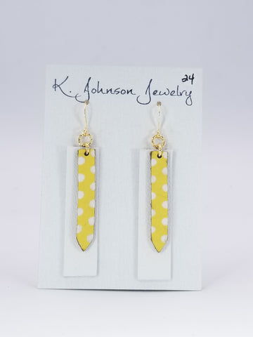 Layered Bars - Chickie Dots - K. Johnson Jewelry LLC