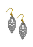 Filigree Earrings - Matte Alloy Grey - Mini - K. Johnson Jewelry LLC
