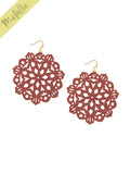 Mandala Earrings - Large - Almandine