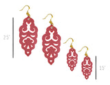 Filigree Earrings - Metallic Almandine Garnet - Large - K. Johnson Jewelry LLC