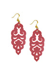 Filigree Earrings - Metallic Almandine Garnet - Large