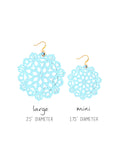 Mandala Earrings - Large - Blue Bikini