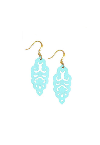 Filigree Earrings - Blue Bikini - Mini