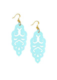 Filigree Earrings - Blue Bikini - Large