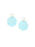 Mandala Earrings - Mini - Blue Bikini - K. Johnson Jewelry LLC