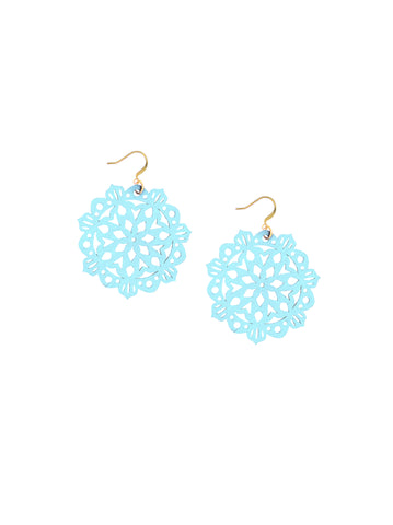 Mandala Earrings - Mini - Blue Bikini