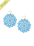 Mandala Earrings - Large - Ice Blue