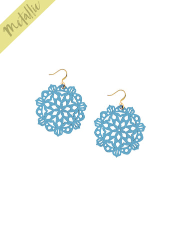 Mandala Earrings - Mini - Ice Blue