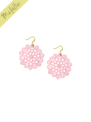 Mandala Earrings - Mini - Bubblegum