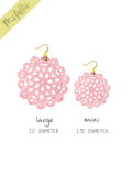 Mandala Earrings - Large - Bubblegum - K. Johnson Jewelry LLC