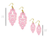 Filigree Earrings - Metallic Bubblegum - Large - K. Johnson Jewelry LLC