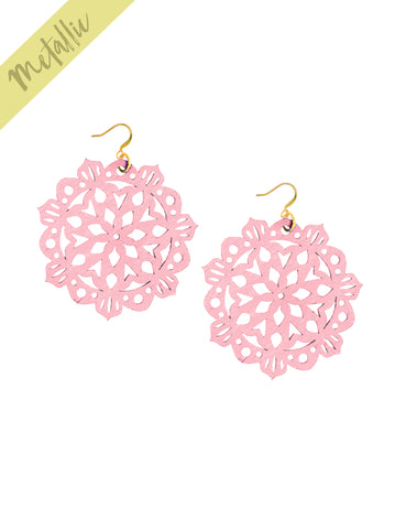 Mandala Earrings - Large - Bubblegum