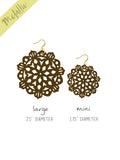 Mandala Earrings - Mini - Chocolate - K. Johnson Jewelry LLC