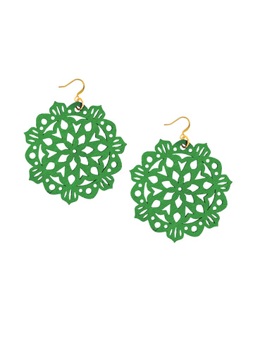 Mandala Earrings - Large - Clover Fields - K. Johnson Jewelry LLC