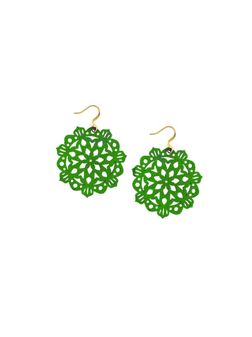 Mandala Earrings - Mini - Clover Fields
