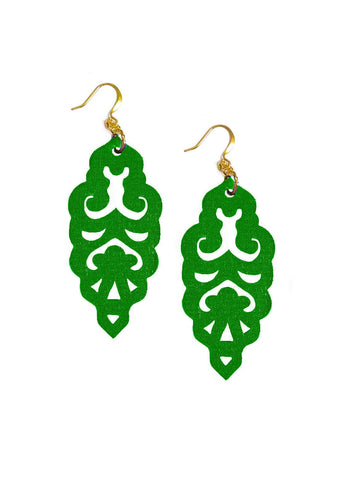 Filigree Earrings - Clover Fields - Large
