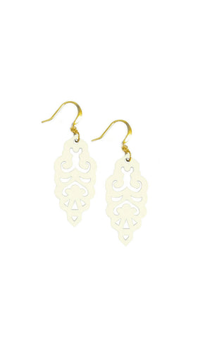 Filigree Earrings - Colada Custard - Mini - K. Johnson Jewelry LLC