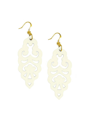 Filigree Earrings - Colada Custard - Large