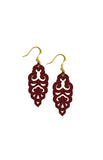 Filigree Earrings - Matte Dusty Cedar - Mini - K. Johnson Jewelry LLC