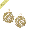 Mandala Earrings - Large - Gold - K. Johnson Jewelry LLC