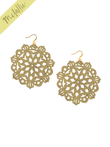 Mandala Earrings - Large - Gold