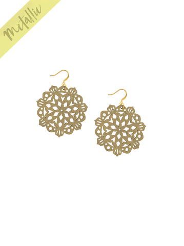Mandala Earrings - Mini - Gold - K. Johnson Jewelry LLC