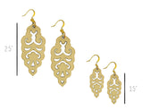 Filigree Earrings - Metallic Antique Gold - Mini