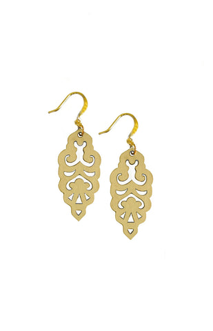 Filigree Earrings - Metallic Antique Gold - Mini - K. Johnson Jewelry LLC