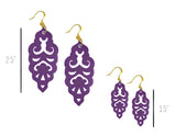 Filigree Earrings - Matte Grape - Large