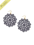 Mandala Earrings - Large - Graphite