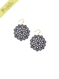 Mandala Earrings - Mini - Graphite - K. Johnson Jewelry LLC