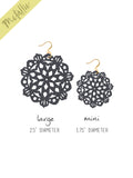 Mandala Earrings - Large - Graphite - K. Johnson Jewelry LLC
