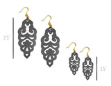 Filigree Earrings - Metallic Graphite - Mini